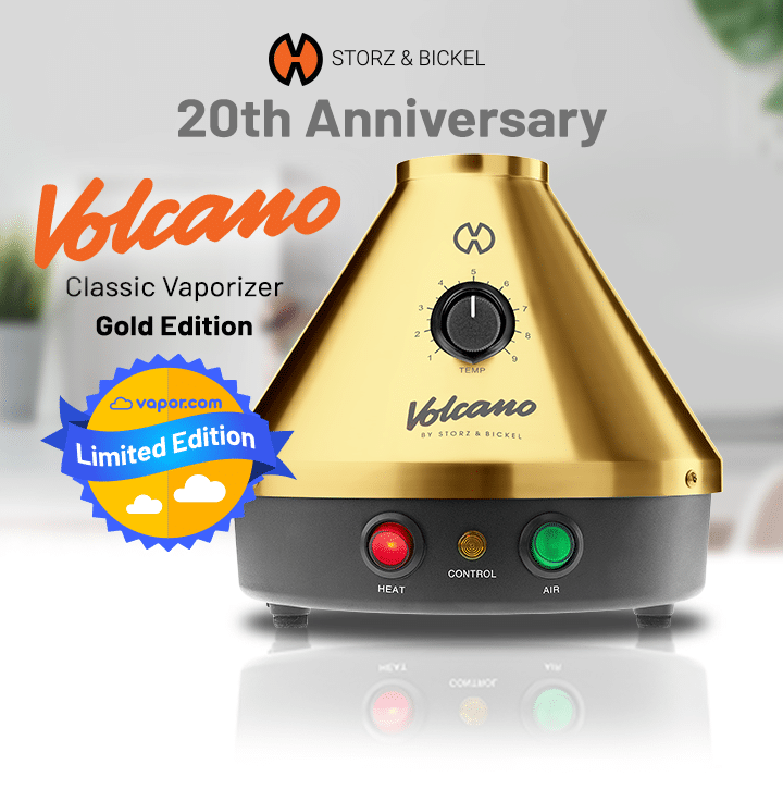 Gold Volcano Vaporizer Limited Edition Released